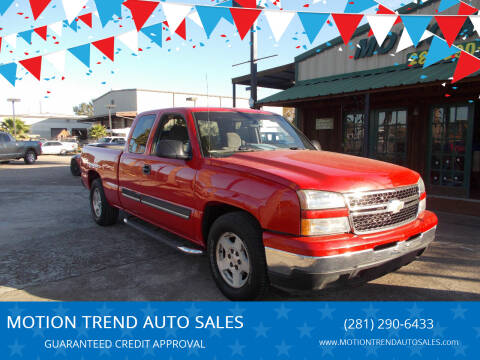 2007 Chevrolet Silverado 1500 Classic for sale at MOTION TREND AUTO SALES in Tomball TX