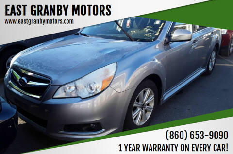 2010 Subaru Legacy for sale at EAST GRANBY MOTORS in East Granby CT