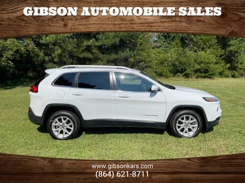 2018 Jeep Cherokee for sale at Gibson Automobile Sales in Spartanburg SC