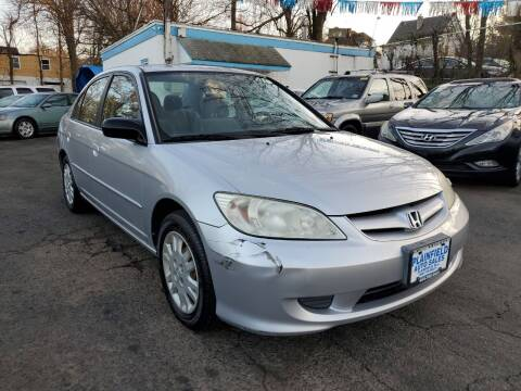 2005 Honda Civic for sale at New Plainfield Auto Sales in Plainfield NJ