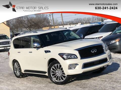 2015 Infiniti QX80 for sale at Star Motor Sales in Downers Grove IL