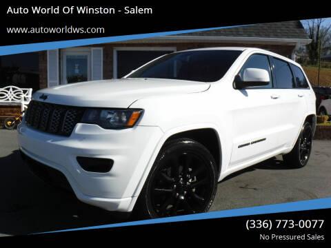 2018 Jeep Grand Cherokee for sale at Auto World Of Winston - Salem in Winston Salem NC