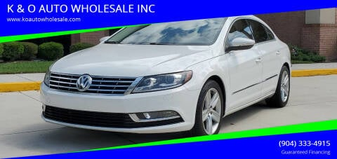 2015 Volkswagen CC for sale at K & O AUTO WHOLESALE INC in Jacksonville FL