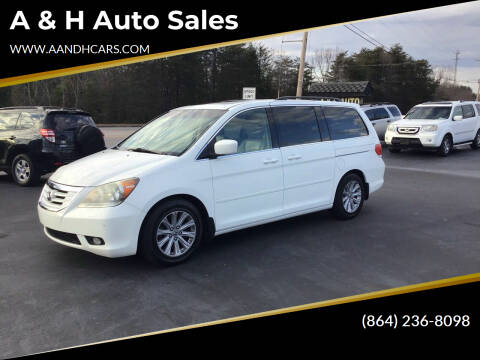 2008 Honda Odyssey for sale at A & H Auto Sales in Greenville SC