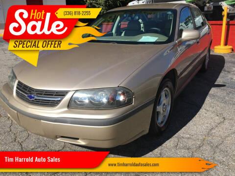 2004 Chevrolet Impala for sale at Tim Harrold Auto Sales in Wilkesboro NC