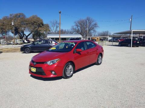 2015 Toyota Corolla for sale at Bostick's Auto & Truck Sales in Brownwood TX