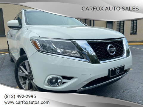 2014 Nissan Pathfinder for sale at Carfox Auto Sales in Tampa FL