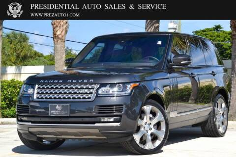 2017 Land Rover Range Rover for sale at Presidential Auto  Sales & Service in Delray Beach FL