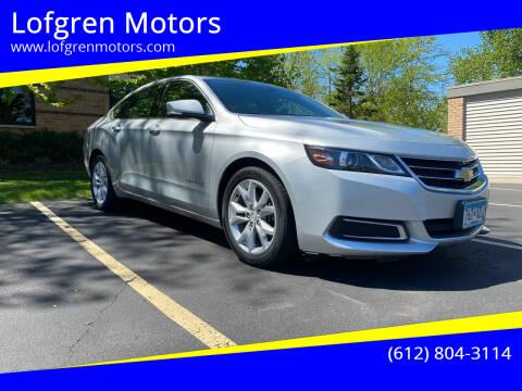 2016 Chevrolet Impala for sale at Lofgren Motors in Wayzata MN