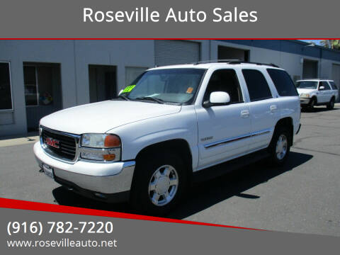 2004 GMC Yukon for sale at Roseville Auto Sales in Roseville CA