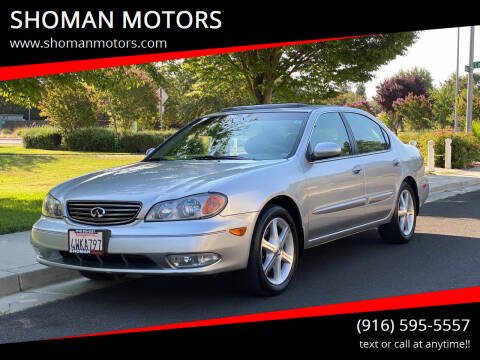 2002 Infiniti I35 for sale at SHOMAN MOTORS in Davis CA