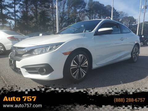 2016 Honda Civic for sale at Auto 757 - In House Finance in Norfold VA