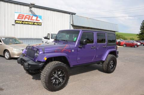 2016 Jeep Wrangler Unlimited for sale at Ball Pre-owned Auto in Terra Alta WV