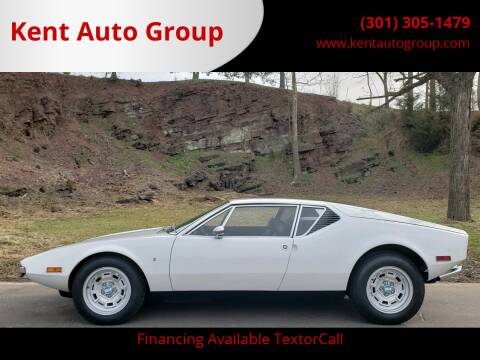 1971 De Tomaso Pantera for sale at Kent Auto Group in Woodsboro MD