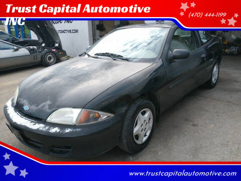 2001 Chevrolet Cavalier for sale at Trust Capital Automotive Inc. in Covington GA