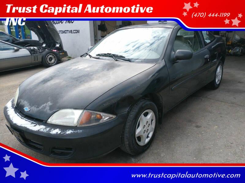2001 Chevrolet Cavalier for sale at Trust Capital Automotive Inc. in Covington GA