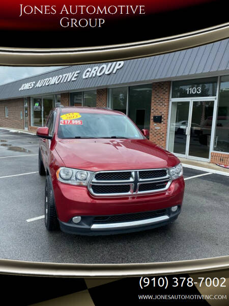2013 Dodge Durango for sale at Jones Automotive Group in Jacksonville NC