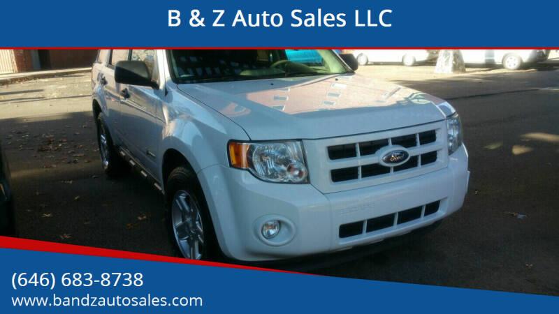 2012 Ford Escape Hybrid for sale at B & Z Auto Sales LLC in Delran NJ