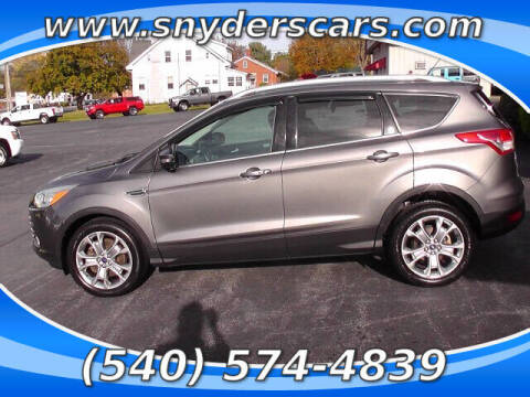 2014 Ford Escape for sale at Snyders Auto Sales in Harrisonburg VA
