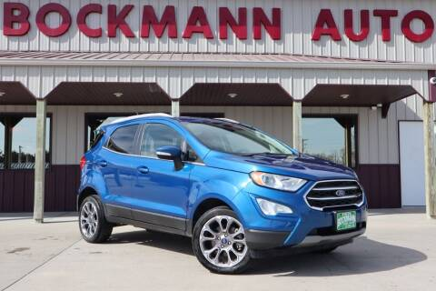 2019 Ford EcoSport for sale at Bockmann Auto Sales in St. Paul NE