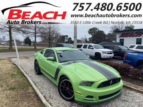 2013 Ford Mustang for sale at Beach Auto Brokers in Norfolk VA