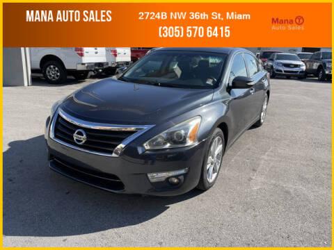 2013 Nissan Altima for sale at MANA AUTO SALES in Miami FL