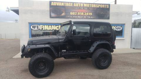 1997 Jeep Wrangler for sale at Advantage Auto Motorsports in Phoenix AZ