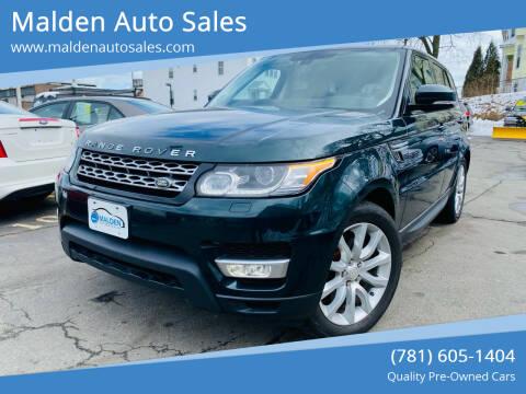 2014 Land Rover Range Rover Sport for sale at Malden Auto Sales in Malden MA