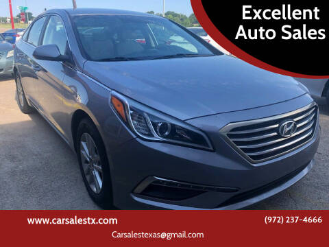2015 Hyundai Sonata for sale at Excellent Auto Sales in Grand Prairie TX
