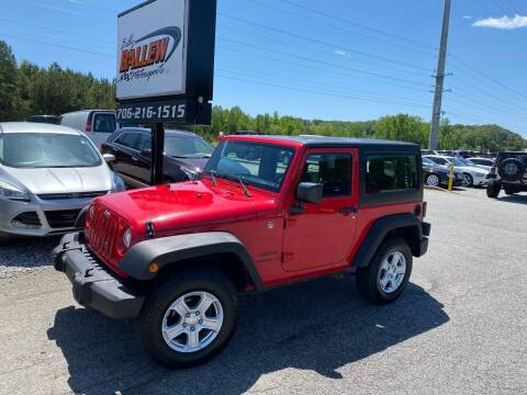 2015 Jeep Wrangler for sale at Billy Ballew Motorsports in Dawsonville GA