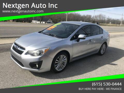 2012 Subaru Impreza for sale at Nextgen Auto Inc in Smithville TN