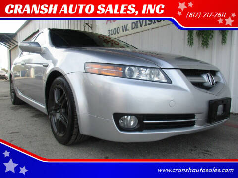 2007 Acura TL for sale at CRANSH AUTO SALES, INC in Arlington TX