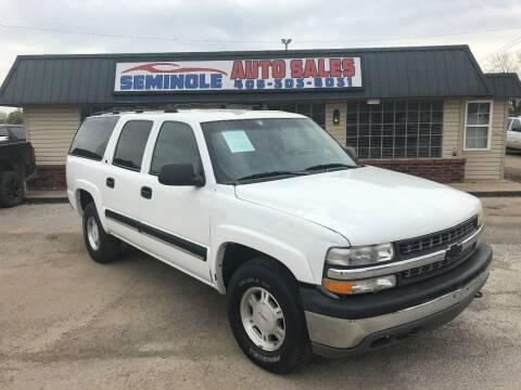 2001 Chevrolet Suburban for sale at Seminole Auto Sales in Seminole OK
