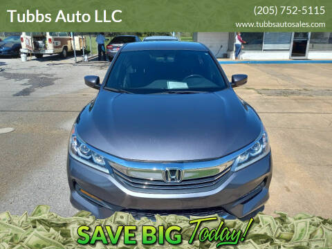 2016 Honda Accord for sale at Tubbs Auto LLC in Tuscaloosa AL