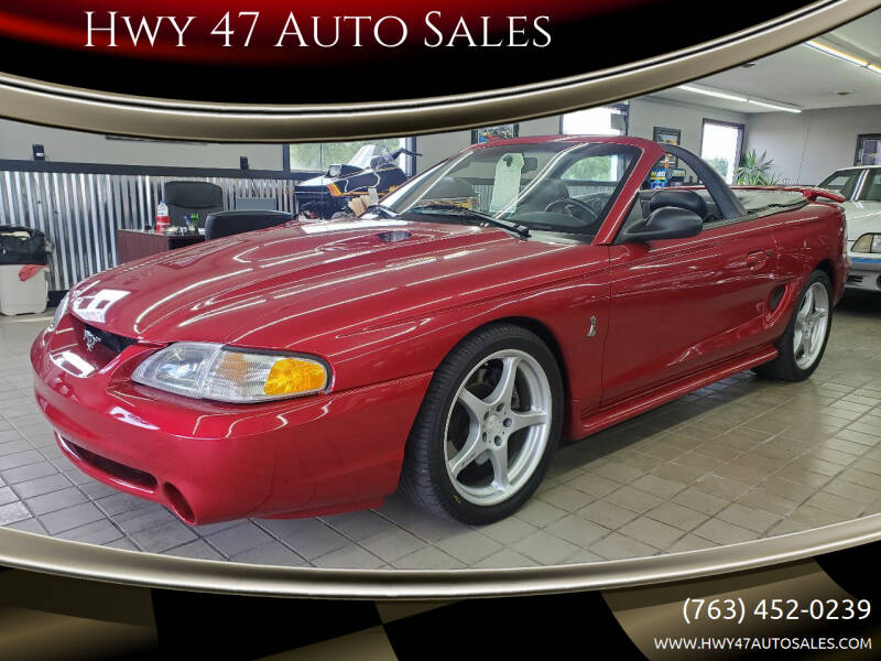 1996 Ford Mustang SVT Cobra for sale at Hwy 47 Auto Sales in Saint Francis MN