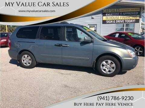 2007 Kia Sedona for sale at My Value Car Sales - Upcoming Cars in Venice FL