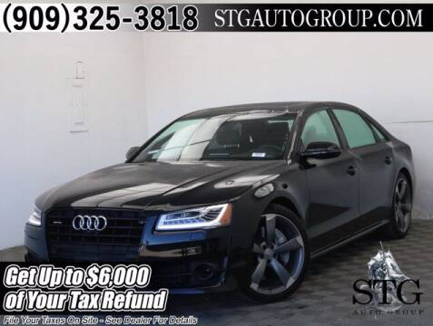 2018 Audi A8 L for sale at STG Auto Group in Montclair CA