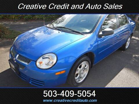 2004 Dodge Neon for sale at Creative Credit & Auto Sales in Salem OR