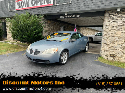 2007 Pontiac G6 for sale at Discount Motors Inc in Old Hickory TN