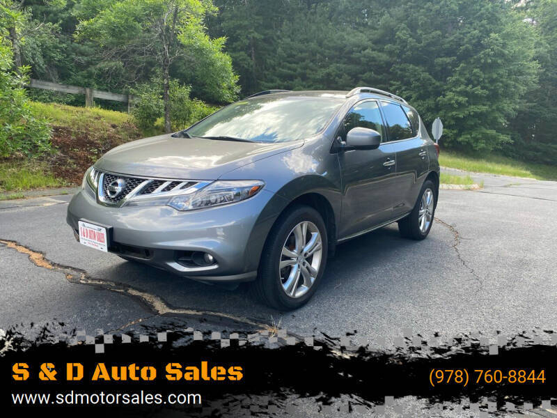 2014 Nissan Murano for sale at S & D Auto Sales in Maynard MA