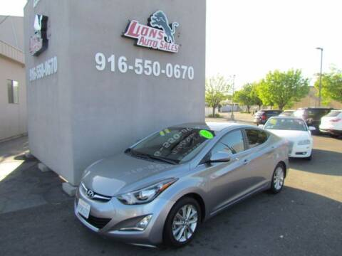 2015 Hyundai Elantra for sale at LIONS AUTO SALES in Sacramento CA