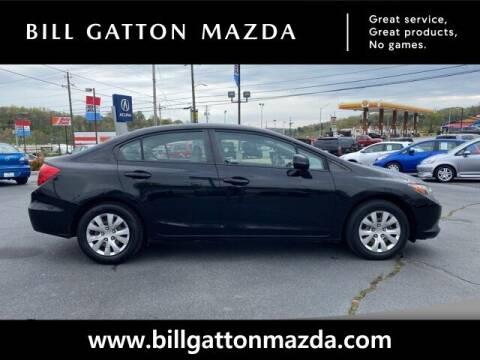 2012 Honda Civic for sale at Bill Gatton Used Cars - BILL GATTON ACURA MAZDA in Johnson City TN