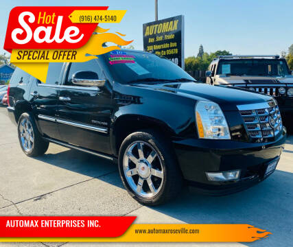 2010 Cadillac Escalade for sale at AUTOMAX ENTERPRISES INC. in Roseville CA