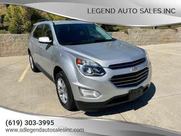 2017 Chevrolet Equinox for sale at Legend Auto Sales Inc in Lemon Grove CA