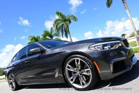 2018 BMW 5 Series for sale at MOTORCARS in West Palm Beach FL
