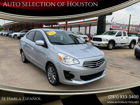 2019 Mitsubishi Mirage G4 for sale at Auto Selection of Houston in Houston TX