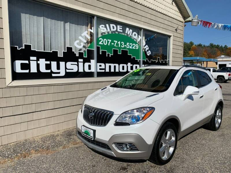 2015 Buick Encore for sale at CITY SIDE MOTORS in Auburn ME