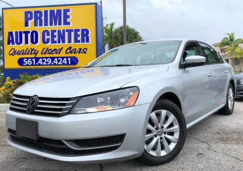 2014 Volkswagen Passat for sale at PRIME AUTO CENTER in Palm Springs FL