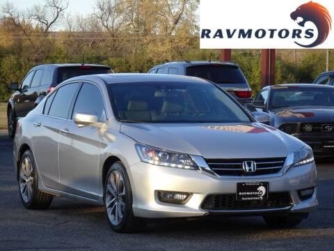 2015 Honda Accord for sale at RAVMOTORS in Burnsville MN