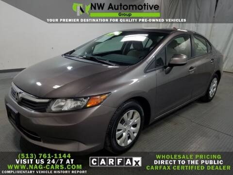2012 Honda Civic for sale at NW Automotive Group in Cincinnati OH